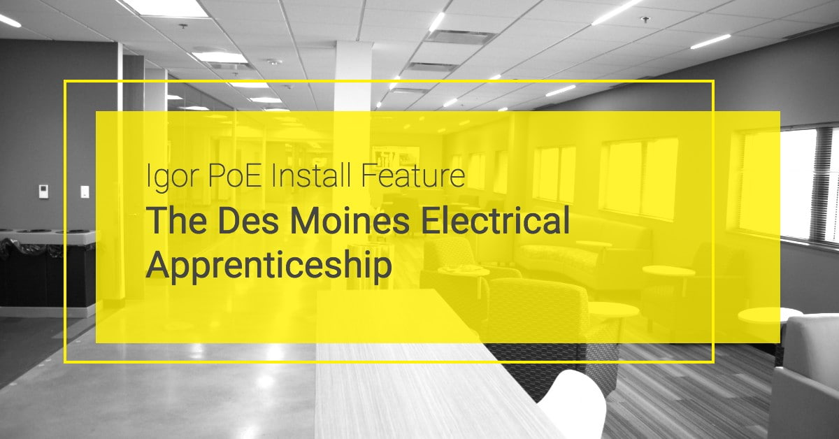 Igor Install at the Des Moines Electrical Apprenticeshi