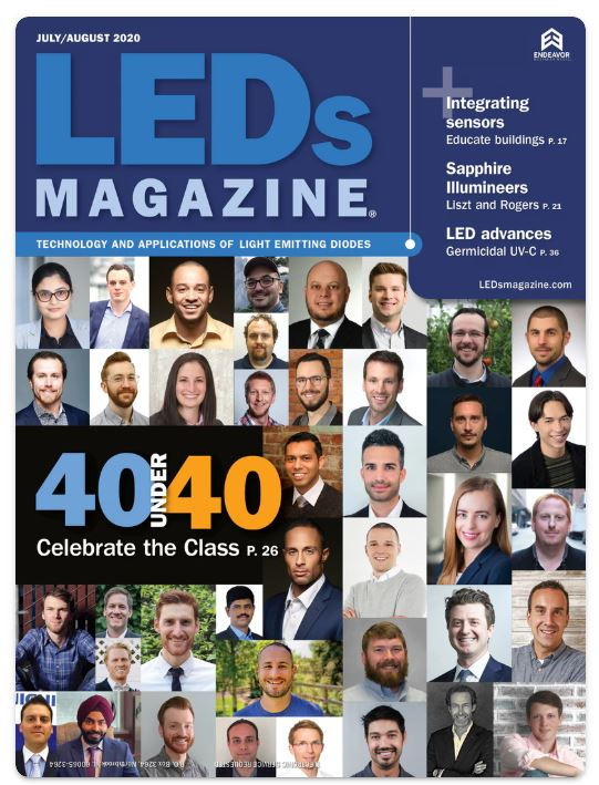 LEDs magazine 40 under 40 cover